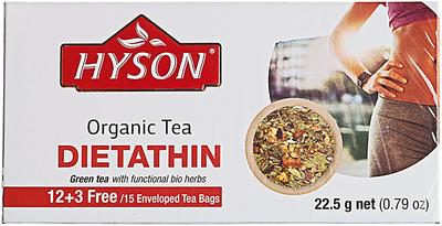 Чай Хайсон зеленый органический Dietathin 23г