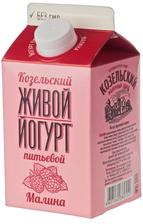 Йогурт живой Малина 2,5% жир., 450г