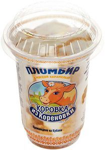 Мороженое пломбир с карамелью 15% жир., 220г