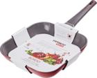 Сковорода-гриль литая с индукционным дном 28см