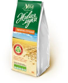 Живая мука пшенично-отрубная 400г