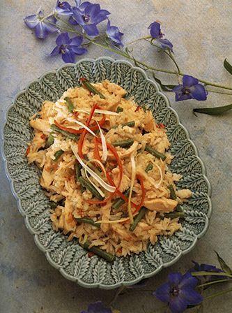 Пикантный рис с курицей