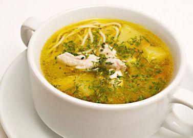 Суп лапша с домашней курочкой