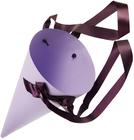 Конверт-конус с лентами для цветов Сиреневый