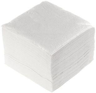 Салфетки бумажные белые 1-слойные, 24х24см, 100шт
