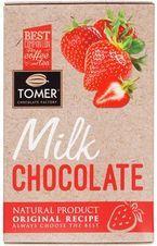 Шоколад молочный с клубникой 90г