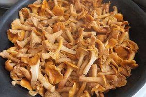 Грибы обжарьте отдельно на разогретой с сливочным маслом сковороде до румяной корочки.
