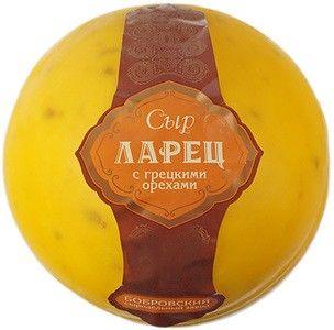 Сыр Ларец с грецким орехом 50% жир., ~ 0,9кг