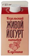 Йогурт живой Клубника 2,5% жир., 450г