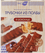Трубочки из полбы в шоколаде 150г