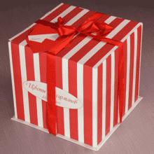 Гвоздики белые в шляпной коробке L ~17шт