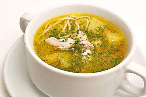 Суп-лапша с домашней курочкой