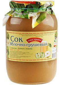 Сок яблочно-грушевый с мякотью 1л