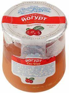 Йогурт Сэн-Флур брусника 6% жир., 140г