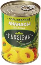 Ананасы королевские колечки 580мл