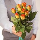 Роза мини оранжевая 30см упаковка 10шт
