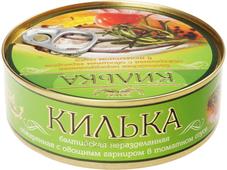 Килька балтийская с овощным гарниром 240г