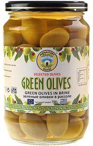 Оливки зеленые с косточкой 700г
