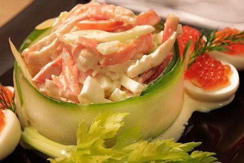 Салат из краба камчатского с