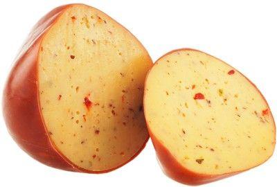 Сыр Эдам с чили и паприкой копченый 45% жир, ~1кг