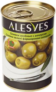 Оливки фаршированные анчоусом 300г