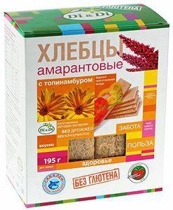 Хлебцы амарантовые с топинамбуром 195г