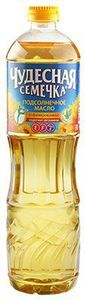 Масло подсолнечное Чудесная семечка 0,9л