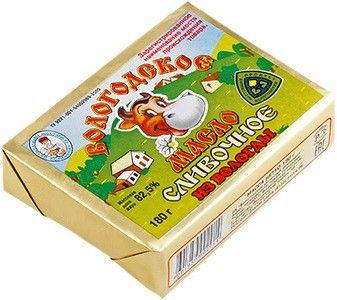 Масло сливочное Вологодское из Вологды 82,5% жир., 180г