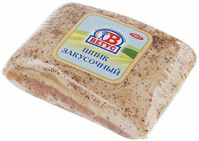 Шпик Закусочный соленый ~ 500г