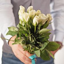 Роза мини белая 30см упаковка 10шт