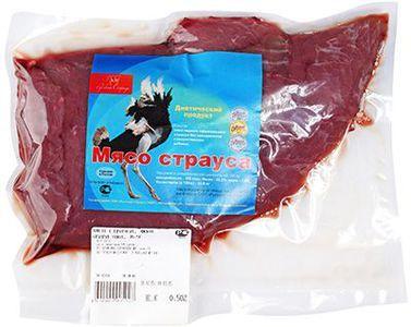Мясо Страуса замороженное 500г
