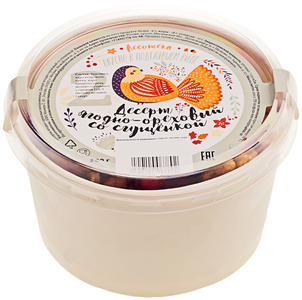 Десерт ягодно-ореховый со сгущенкой 200г