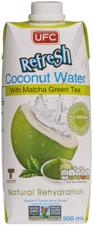 Кокосовая вода Refresh c зеленым чаем 500мл