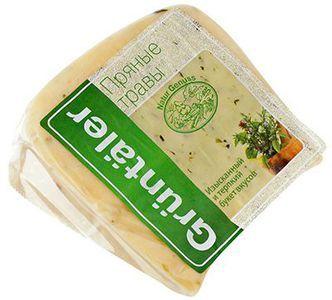 Сыр Грюнтайлер с пряными травами 50% жир.,~ 300г