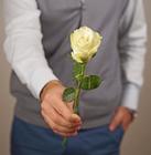 Роза белая Гратено Тембо 1шт