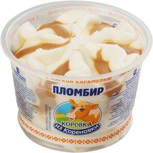 Мороженое пломбир с карамелью 15% жир., 150г