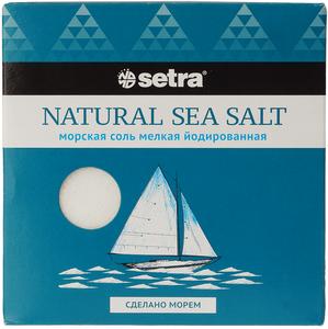 Соль морская йодированная мелкая 500г