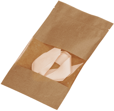 Лента декоративная атласная Персик 1м