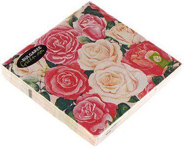 Салфетки бумажные Розовый букет 3-сл, 33х33см, 20шт
