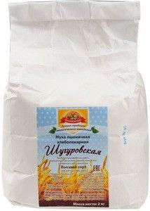 Мука пшеничная хлебопекарная Шугуровская 2кг