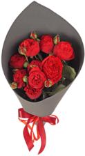 Букет №37 Розы красные Пиано 11шт