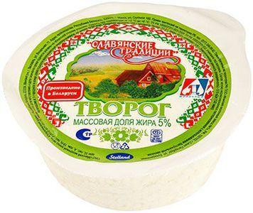 Творог Славянские традиции 5% жир., 355г