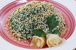 Салат с тофу постный