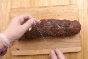 Обмотать нитками, чтобы сохранить форму.
