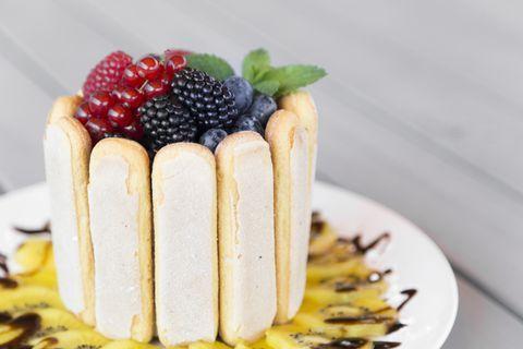 Ягодный сливочный десерт