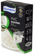 Рис Жасмин белый ароматный 5*80г