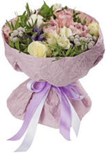 Букет №5 Розы Мемори Лейн и хлопок