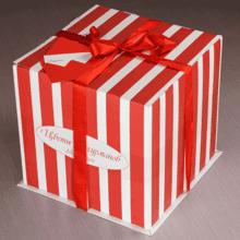 Букет №87 Красный бархат в шляпной коробке