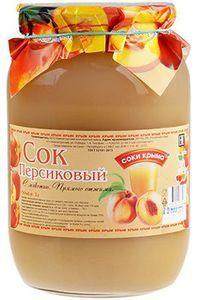 Сок персиковый с мякотью 1л