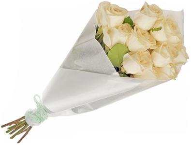 Пленка для упаковки цветов вощеная Белая